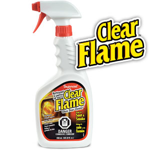 CLEAR FLAME Glass Door Cleaner
